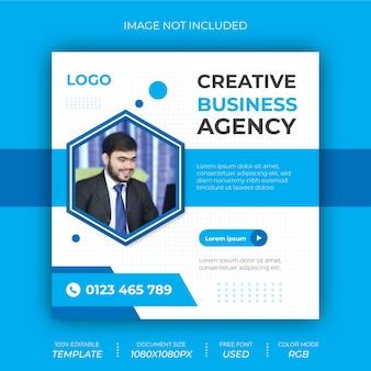Kreatywna agencja biznesowa social post banner design