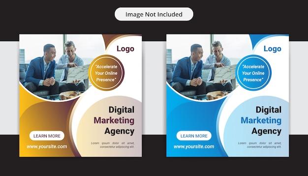 Kreatywna agencja marketingu biznesowego media społecznościowe insta post design