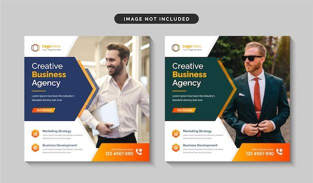 Kreatywna agencja marketingu cyfrowego projektowanie postów w mediach społecznościowych lub projektowanie szablonów banerów internetowych