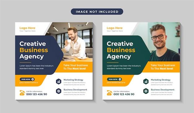 Kreatywna agencja marketingu cyfrowego w mediach społecznościowych lub edytowalny baner internetowy
