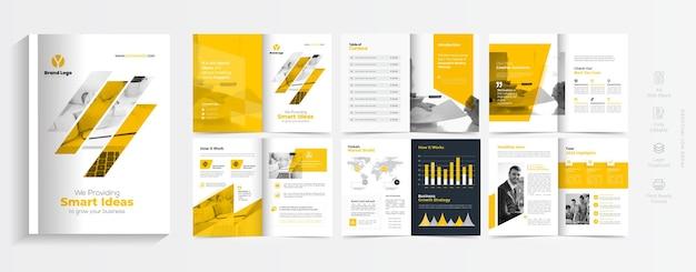 Kreatywna broszura biznesowa lub szablon profilu firmy