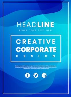 Kreatywna broszura korporacyjna