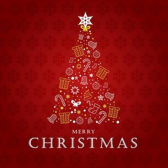 Kreatywna dekoracja drzewna wesołych świąt bożego narodzenia!