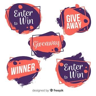 Kreatywna gratisowa kolekcja liter na konkursy