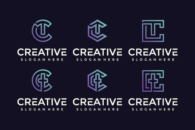 Kreatywna i elegancka ikona logo litery tc dla luksusowych firm