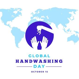 Kreatywna ilustracja globalnego wydarzenia dnia mycia rąk