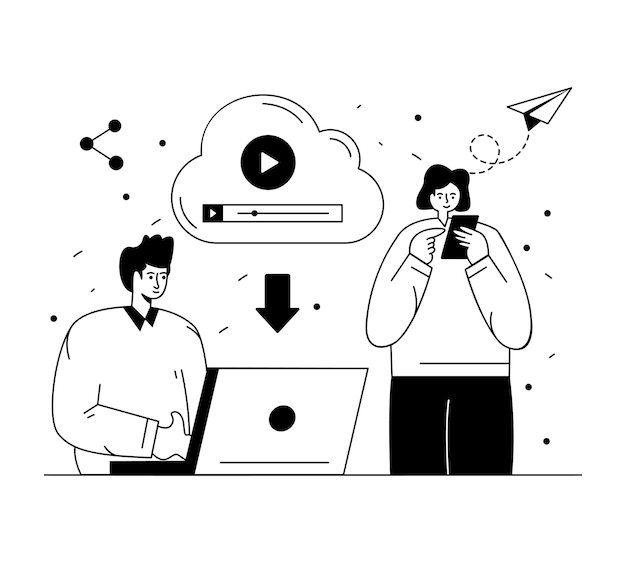 Kreatywna ilustracja projektu administratora mediów społecznościowych