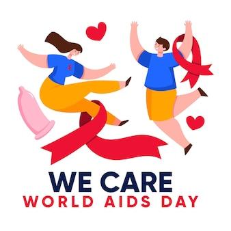 Kreatywna ilustracja światowego dnia pomocy