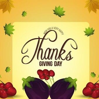 Kreatywna ilustracja tła szczęśliwego dnia dziękczynienia