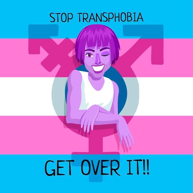 Kreatywna ilustracja zatrzymania transfobii