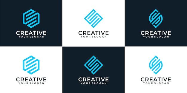Kreatywna inicjalna inspiracja logo monogramu