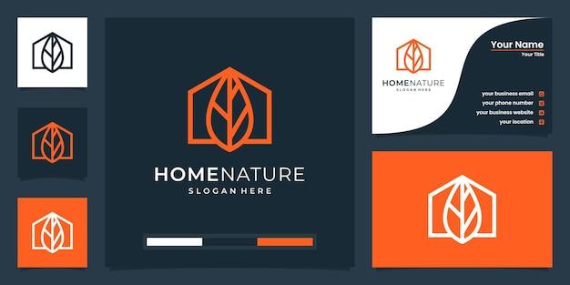 Kreatywna inspiracja logo natury domowej
