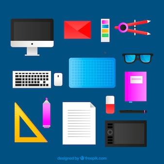 Kreatywna kolekcja elementów graficznych