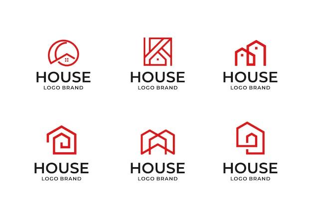 Kreatywna kolekcja ikon logo domu