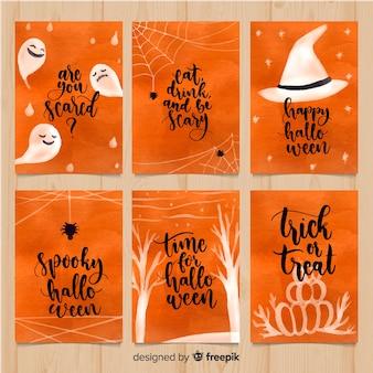 Kreatywna kolekcja kart halloween