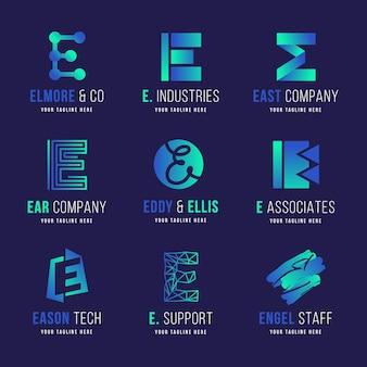 Kreatywna kolekcja logo e gradientu