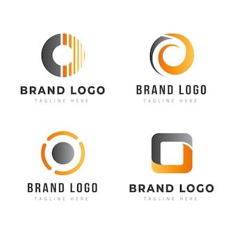 Kreatywna kolekcja logo gradientu o
