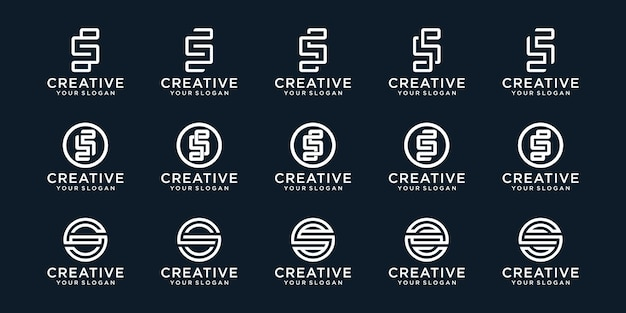 Kreatywna kolekcja logo monogram s.