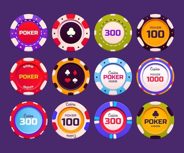 Kreatywna kolekcja pokera w kasynie