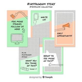 Kreatywna kolekcja szablonów historii instagramów