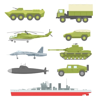 Kreatywna kolekcja techniki wojskowej