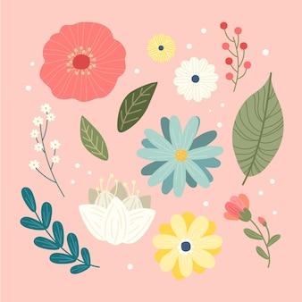 Kreatywna kolekcja wiosennych kwiatów