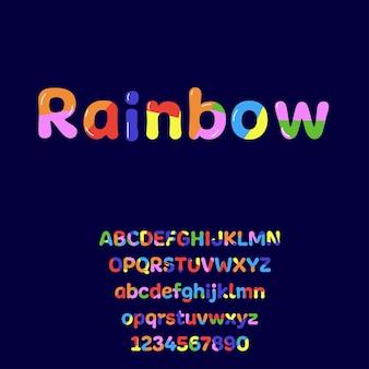 Kreatywna kolorowa czcionka z literą i cyfrą alfabet na baner urodzinowy z logo imprezy