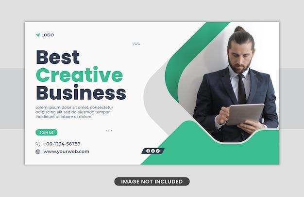 Kreatywna koncepcja biznesowa szablon projektu banera internetowego
