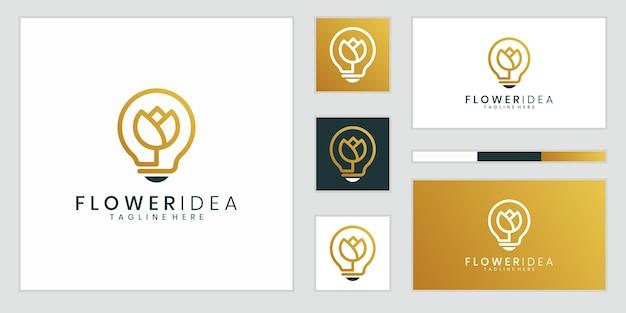 Kreatywna lampa żarówkowa połączona z kwiatem. uroda, moda, salon, spa