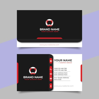 Kreatywna nowoczesna profesjonalna wizytówka vector design