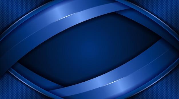 Kreatywna okładka strony ciemny czarny i gradient niebieski streszczenie tło technologia biznes korporacyjny