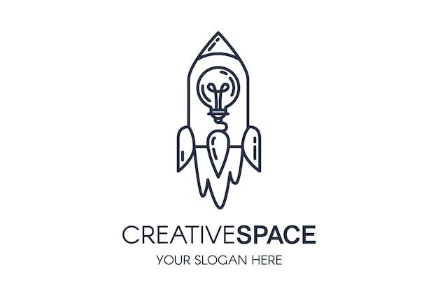 Kreatywna przestrzeń logo baner usługi multimedialnej