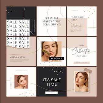Kreatywna sprzedaż instagramowa siatka