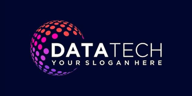 Kreatywna technologia planety szablon projektu logo firmy