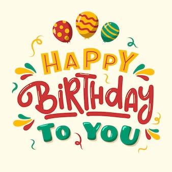 Kreatywna typografia urodzinowa
