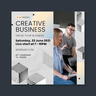 Kreatywna ulotka biznesowa w kwadracie