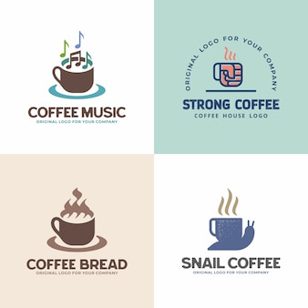 Kreatywna unikalna kolekcja logo drink.