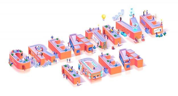 Kreatywna wizja innowacja idea typografia