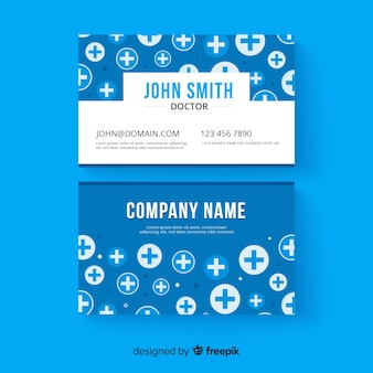 Kreatywna wizytówka dla szpitala lub lekarza