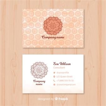 Kreatywna wizytówka w stylu mandali