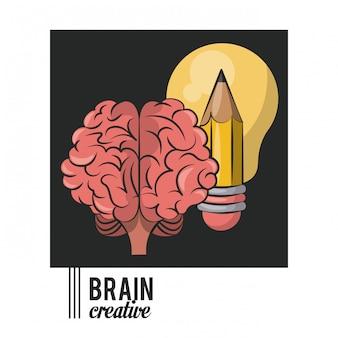 Kreatywna żarówka i ołówek