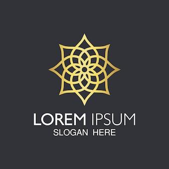 Kreatywne abstrakcyjne elementy mandali do projektowania logo.