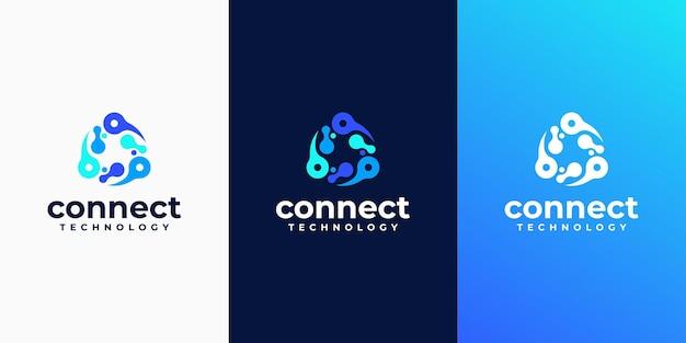 Kreatywne abstrakcyjne logo dla firmy technologicznej