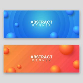 Kreatywne abstrakcyjne szablony banerów internetowych banery gotowe do użycia w projektach internetowych lub drukowanych