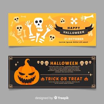 Kreatywne banery halloween z tekstem