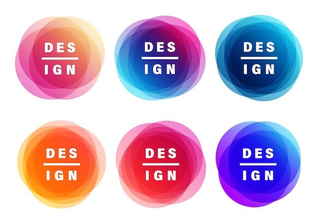 Kreatywne banery. kolory nakładek kształtują projekty artystyczne.