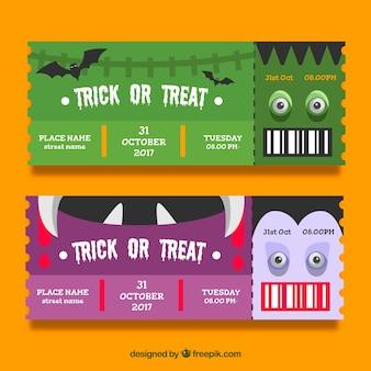 Kreatywne bilety na imprezę halloween