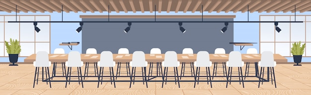 Kreatywne biuro współpracujące centrum nowoczesna sala konferencyjna z meblami okrągły stół otoczony krzesłami współczesne wnętrze szafki poziomej