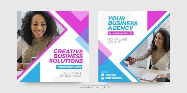 Kreatywne biznesowe szablony postów w mediach społecznościowych