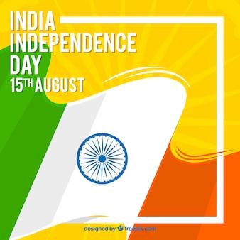 Kreatywne dni niepodległości indii tło